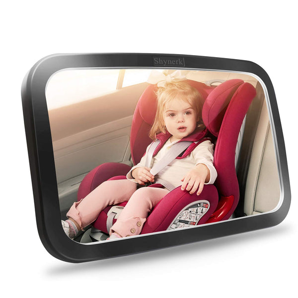 Baby Car Mirror, Safety Car Seat Mirror for Rear Facing Infant with Wide Crystal Clear View,