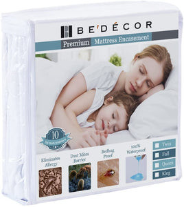 Zippered Encasement Six Sides Waterproof, Dust Mite Proof, Bed Bug Proof Breathable Mattress Protector - Twin Size