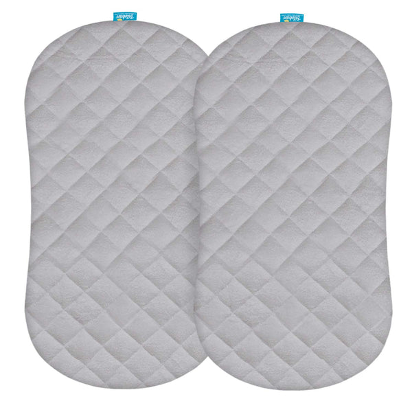 Bassinet Mattress Pad Cover(Improved Style), Waterproof,