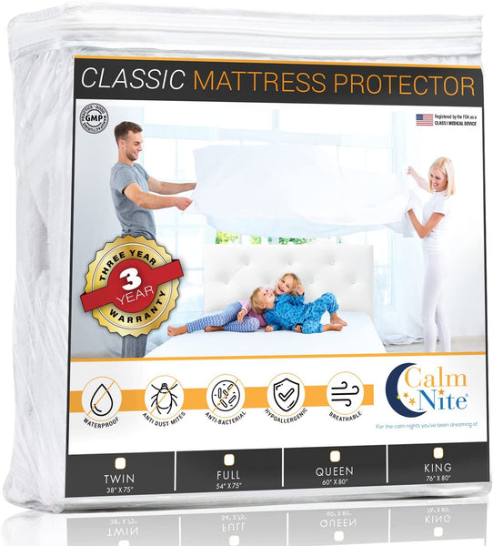 Mattress Pad Protector - Waterproof & Hypoallergenic Cover, Vinyl Free Topper - Machine Washable… (Queen 60 x 80)