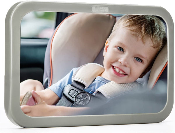 Back Seat Mirror - Baby & Mom Rear View Baby Mirror - Easily Watch your Precious Child In-Car - Adjustable, Convex and Shatterproof Glass