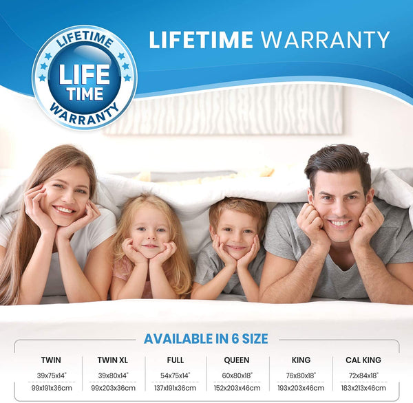 Waterproof Queen Mattress Protector with 2 Pillow Protectors