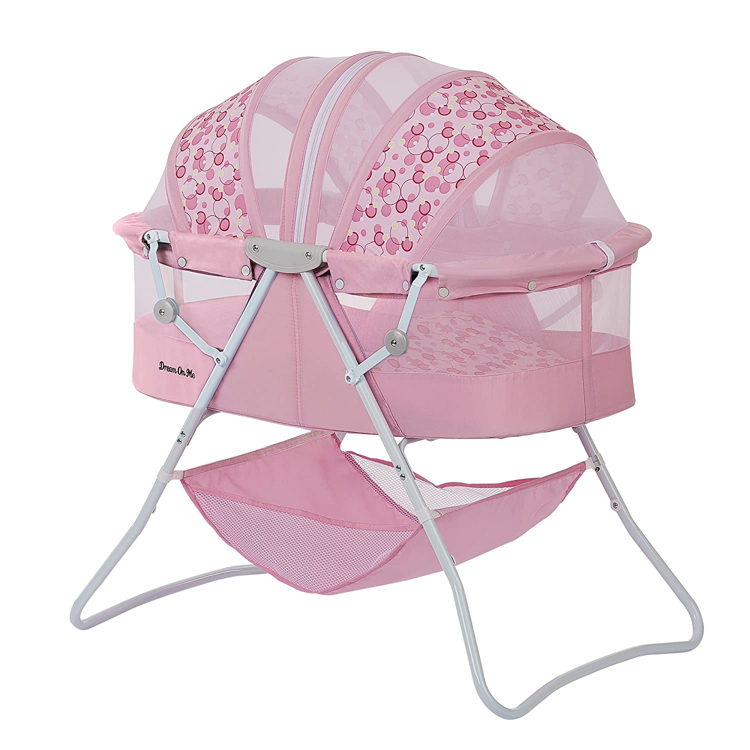 Karley Bassinet, Grey/Pink