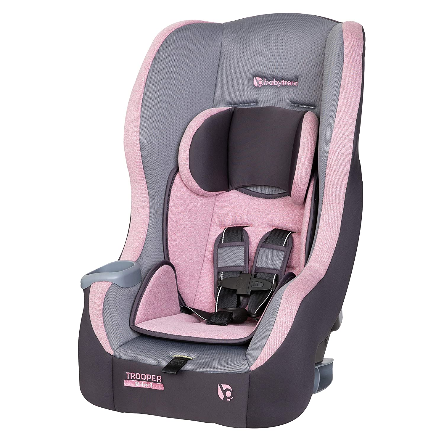 Baby Trend Trooper 2-in-1 Convertible Car Seat, Cassis Pink