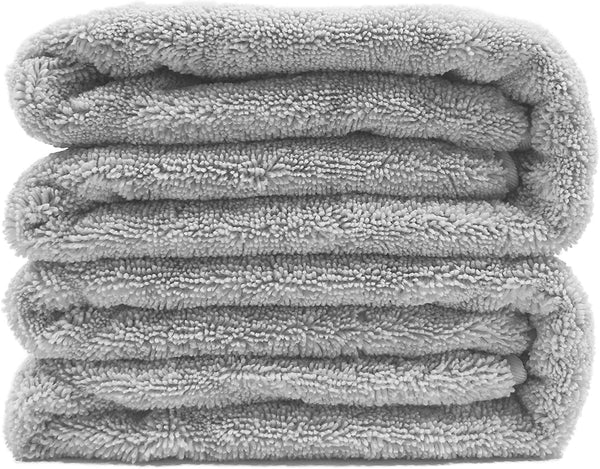 Quick Dry Lint Free Microfiber Bath Sheet, Set of 2 (Gray, 35x70)