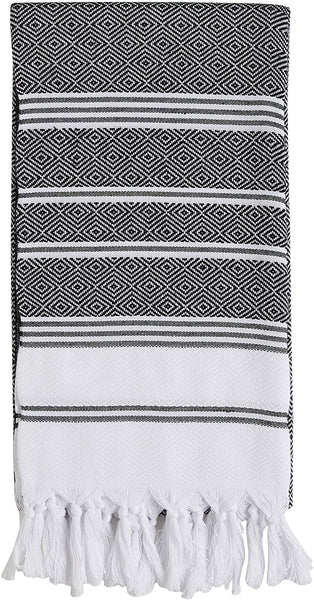 Set of 4 - New Season BRIGHTEST Diamond Weave Turkish Cotton Bath Beach Hammam Fouta Towel Sheet Peshtemal Blanket