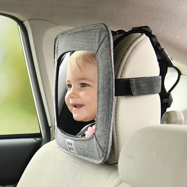 Travel Bug Baby & Toddler Car Back Seat Safety Jumbo Mirror - Shatter Resistant - Rear & Forward Facing (Jumbo)