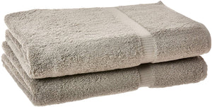 Turkish Cotton Luxury Hotel & Spa Bath Towel, Bath Sheet - Set of 2, Gray