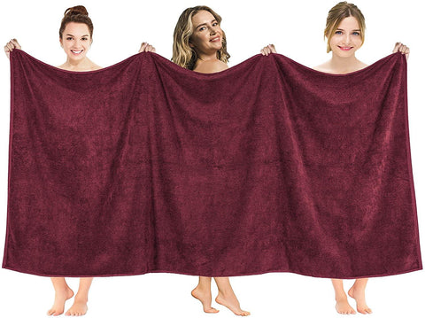 American Soft Linen 40x80 Inches Premium, Soft & Luxury 100% Ringspun Genuine Cotton 650 GSM Extra Large Jumbo Turkish Bath Towel for Maximum Softness & Absorbent [Worth $64.99] Burgundy