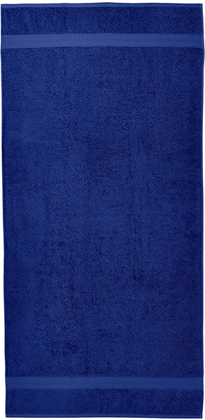 Fade-Resistant Cotton Bath Sheet Towel - Pack of 2, Navy Blue