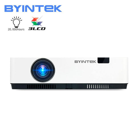 BYINTEK K500 3LCD Smart WIFI 300inch 3D 4K Full HD 1080P Video Projector for Home Theater Education(Optional Android 10 TV Box)