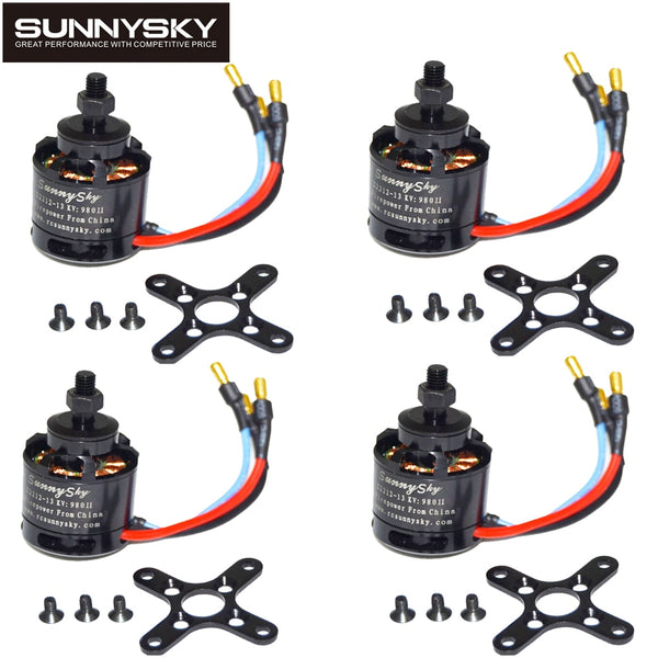 1pcs 100% Original SUNNYSKY X2212 980KV/1250KV/KV1400/2450KV Brushless Motor (Short shaft )Quad-Hexa copter