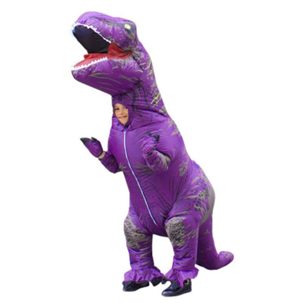 Kids Cartoon Animal Doll Costume Inflatable Dinosaur Costume Children  Jurassic Halloween Blowup Outfit Cosplay
