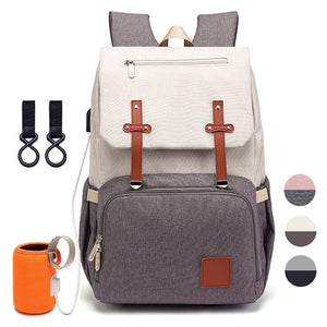 Diaper Bag for Mom 2020 Fashion Maternity Nappy Baby Care Bags With USB Mummy Multifunction Travel Nursing Backpack for Stroller