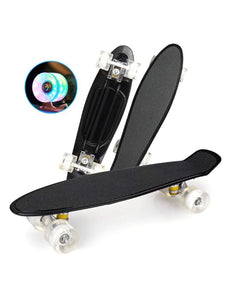 22 Inch Cruiser Board Kids Skateboard With LED Light Up Wheels Skateboard Toys For Kids Teens Adults
