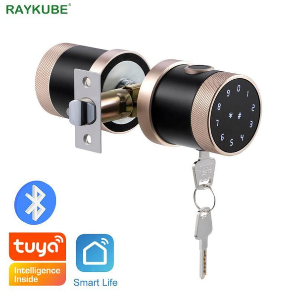 Fingerprint Door Lock Tuya Bluetooth Wifi Digital Keyboard Smart Card Combination knob Lock For Home / Office / Hotel DIY Lock