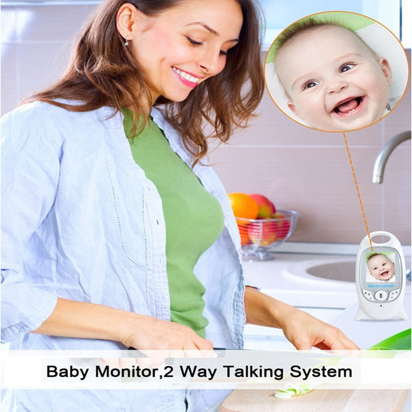 VB601 Wireless Video Baby Monitor 2.0 inch 2 Way Talk Color Security Camera Night Vision IR LED Temperature Monitoring 8 Lullaby