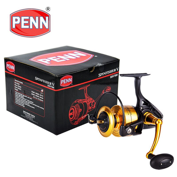 PENN SPINFISHER V Fishing Spinning Reels3500-10500 BB5+1Gear Ratio4.2:1/4.7:1/5.6:1/6.2:1Reel Fishing Sea Saltwater Boat fishing