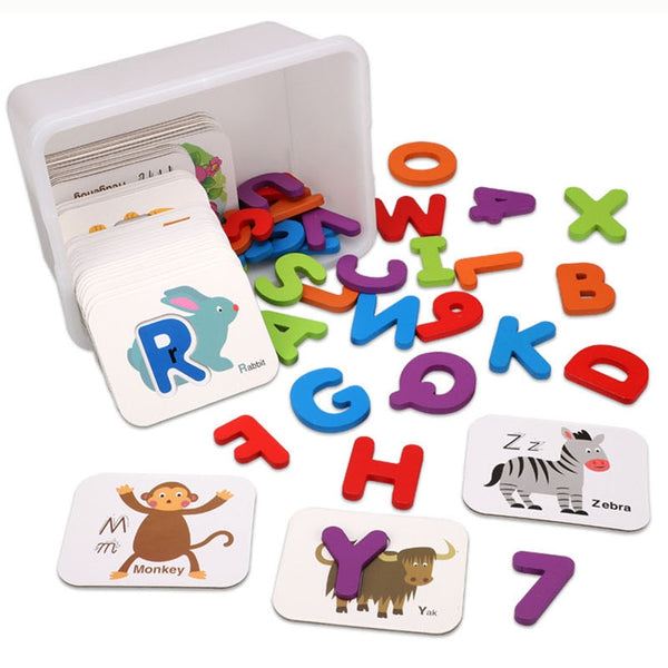 Baby Early Education Puzzle Jigsaw Puzzle Children's Cognitive Teaching Aids Children Recognize Digital Letters Matching Puzzle