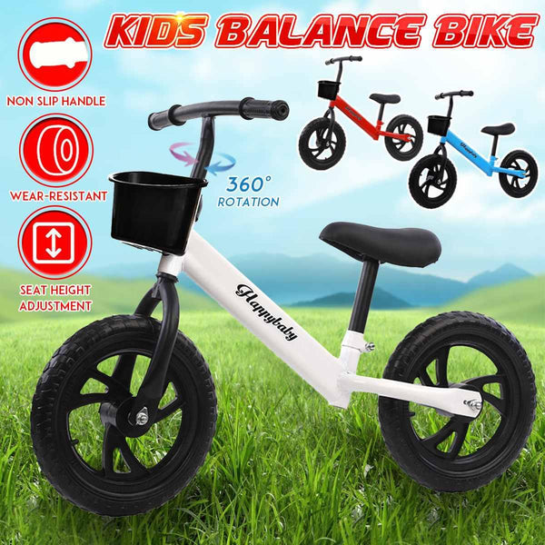 Kids Balance Bike Walker Kids Ride on Toy Gift for 2-7 years old Children for Learning Two Wheel No Foot Pedal Bicycle W/ basket
