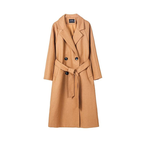 toppies 2020 Fall wool coat women long coat jacket 50% wool ladies outwear double breasted outwear