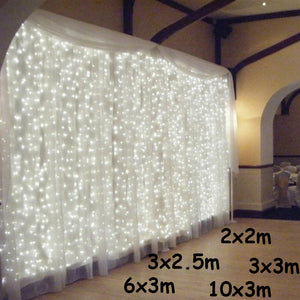 3x1/3x3/6x3m LED Icicle String Lights Christmas Fairy Lights Garland Outdoor Home For Wedding/Party/Curtain/Garden Decoration