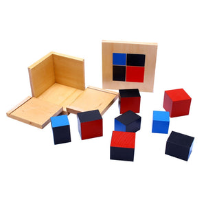 Montessori Wooden Toys Binomial Cube Montessori Math Materials Preschool Educational Learning Toys For Children MG1464H (Binomial Cube)