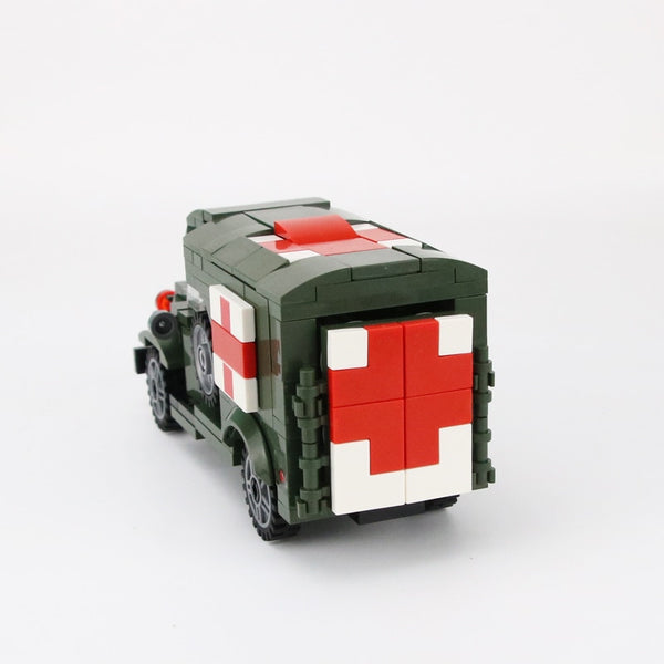 WW2 Military Soldiers US Army Soldiers Figures Building Blocks Wounded soldier Ambulance Weapon Bricks Parts Building Blocks Toy