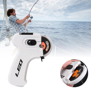 Electric Automatic Hook Device Hooking Fishing Line Winder Portable Automatic Hook Machine Tool
