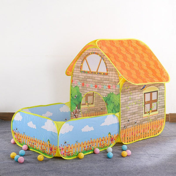 Indoor Baby Toy House Ocean Ball Pool Large Space Villa Garden Cottage Princess Room Children's Tent Game House Beach Tent