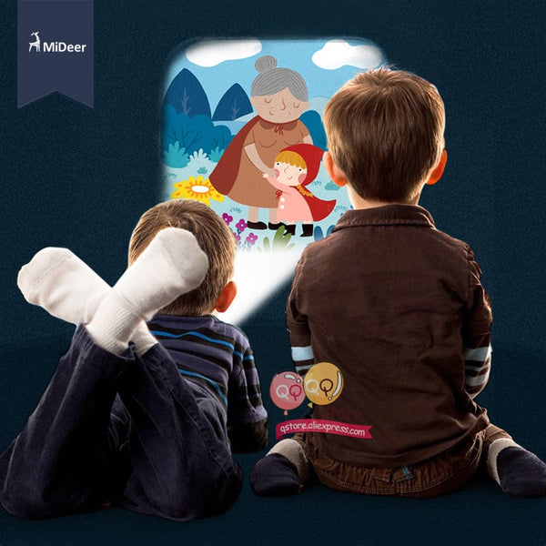Mideer Mini Projector Torch Educational Light-up Toys for Children Kids Develop Play Sleeping Stories Perform Set Child Gift