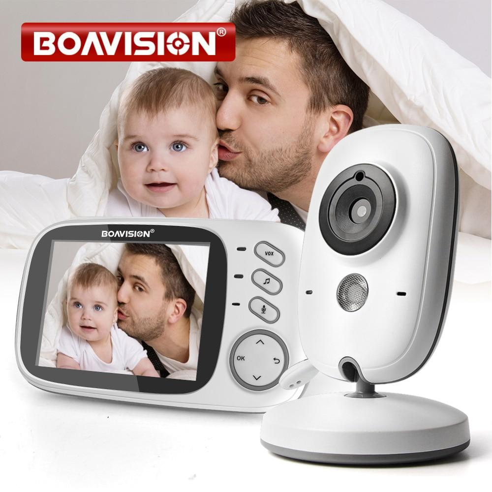 3.2 Inch Color LCD Wireless Video Baby Monitor Night Vision 5m Nanny Monitor Bebek Lullabies Surveillance Security Camera VB603