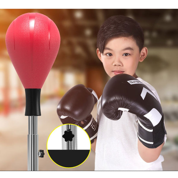 Adult Fitness Household Adjustable Speed Punching Bag Boxing Ball Set Toy For Children Kids Educational Toys Birthday Gift - Red