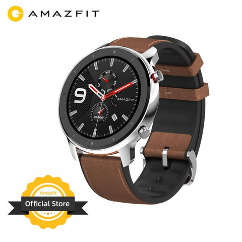 Global Version Amazfit GTR 47mm Smart Watch 5ATM New Smartwatch Long Battery Music Control For Android IOS Phone
