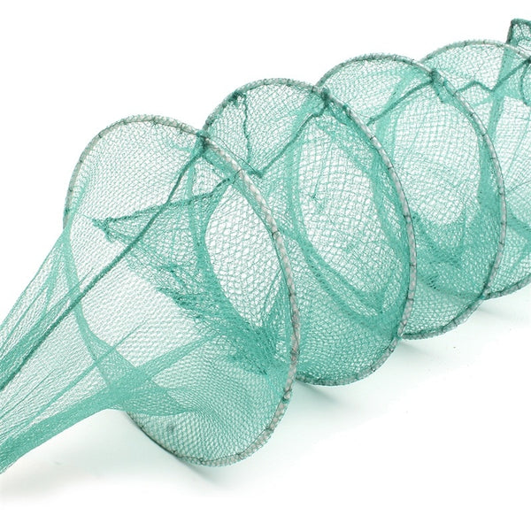 3.6m/5m Nylon Fishing Net Foldable Portable Crab Crayfish Lobster Catcher Live Trap Fish Net Eel Prawn Shrimp Lure Net Live Bait