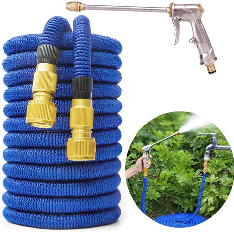 Garden Hose 25FT-100FT Telescopic Hose Magic Flexible Garden Water Hose High Pressure Car Wash Hose Spray Gun Kit