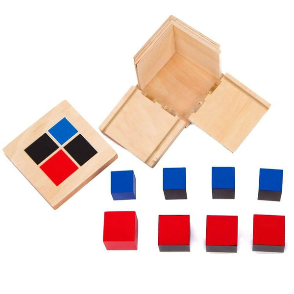 Montessori Wooden Toys Binomial Cube Montessori Math Materials Preschool Educational Learning Toys For Children MG1464H
