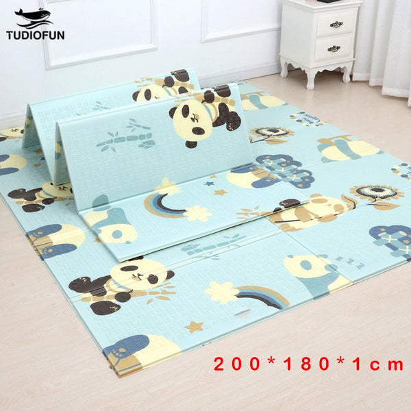 200*180cm  Foldable Cartoon Baby Play Mat Xpe Puzzle Children's Mat Baby Climbing Pad Kids Rug Baby Games Mats Toys For Children