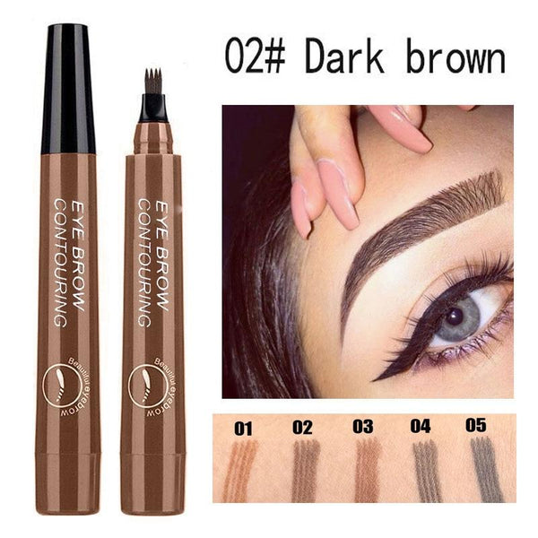 Waterproof Natural Eyebrow Pen Four-claw Eye Brow Tint Fork Tip Eyebrow Tattoo Pencil Long Lasting Easy to use Cosmetics TSLM1