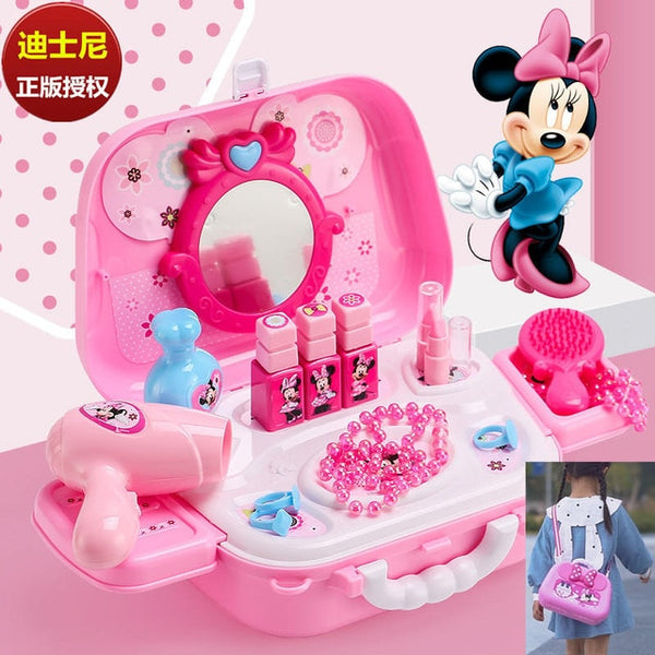 Disney girls  princess  frozen Dressing makeup toy set kids Beauty  toys Children's simulation dressing table Fashion Toys
