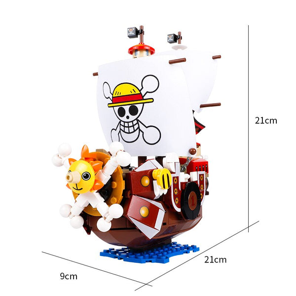 432pcs One Pieces Boats Thousand Sunny Pirate Ships Luffy Blocks Model Techinc Idea Figures Building Blocks Children Toys Gifts