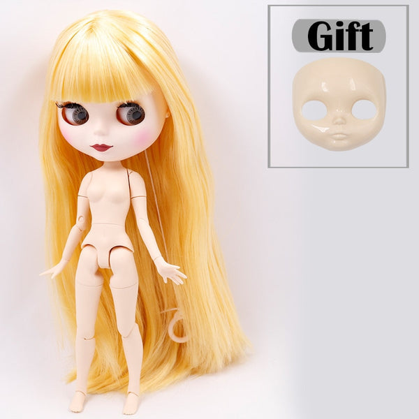 ICY DBS Blyth doll No.2 WHITE and Black skin joint body oily straight hair 1/6 BJD special price toy gift