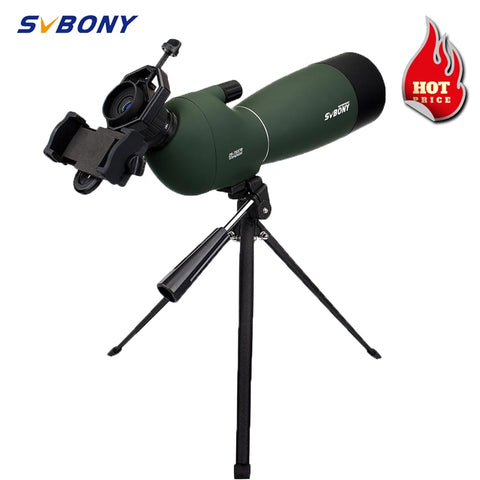Svbony SV28 50/60/70mm HD Powerful Telescope Hunting Spotting Scope Zoom Monocular Binoculars w/ Phone Adapter Mount for Camping