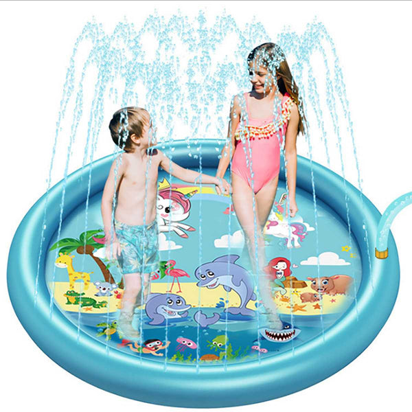 New Fashion Sprinkle And Splash Water Play Mat For Children Outdoor Sprinkler Swimming Beach Lawn Inflatable Pat  170CM