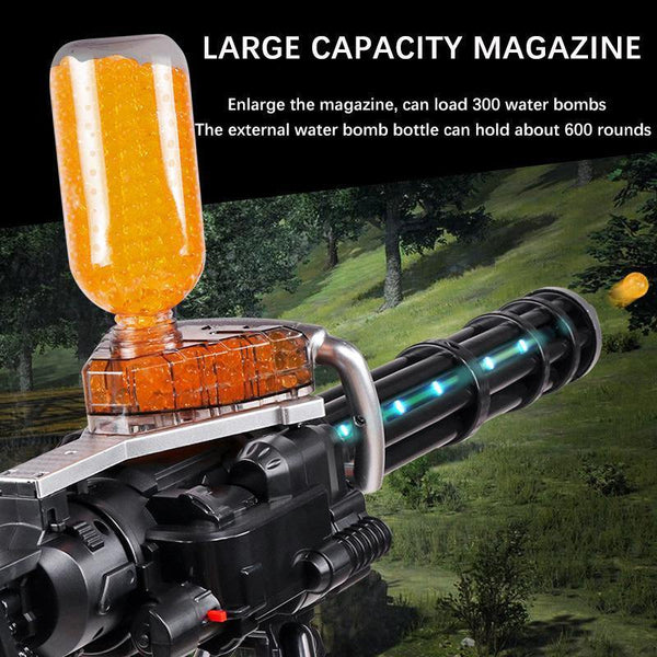 Gatling Boy Toys Military Weapon Gun Model Kit Crystal Water Bullet Soft Bullet Automatic Firing Of Electric Guns Children Toys
