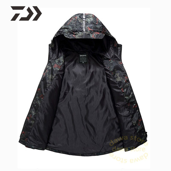 Fishing Clothes Camouflage fishing jacket men autumn coat Casual zipper Multi-pocket Hooded fishing shirt sports