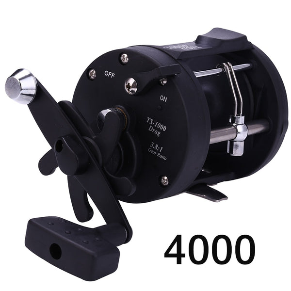 Sougayilang 2020 New Trolling Drum Fishing Reels DTR-30 Left/Right Hand 3+1BB Trolling Drum Fishing Reel  Max Drag 28kg Pesca