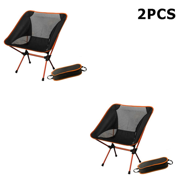 Portable Camping Beach Chair Lightweight Folding Fishing Outdoorcamping Outdoor Ultra Light Orange Red Dark Blue Beach Chairs