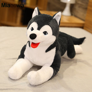 70cm Lifelike Husky Dog Plush Toy Simulation Stuffed Dog Animal Toys for Children Soft Baby Doll Kids Girl Lovely Birthday Gift