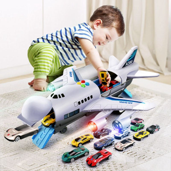 Toy Aircraft Music Story Simulation Track Inertia Children'S Toy Aircraft Large Size Passenger Plane Kids Airliner Toy Car
